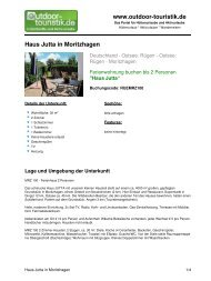 Ferienwohnung für 2 Personen in Moritzhagen - Outdoor-Touristik