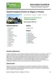 Gasthof-Inselperle Fischen im Allgaeu in Fischen - Outdoor-Touristik