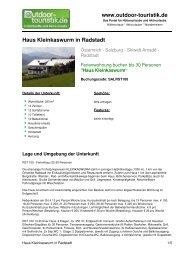 Ferienwohnung für 30 Personen in Radstadt - Outdoor-Touristik