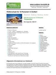 Hüttenurlaub für 10 Personen in Großarl - Outdoor-Touristik