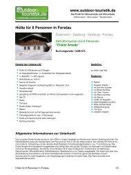 Hütte für 8 Personen in Forstau - Outdoor-Touristik