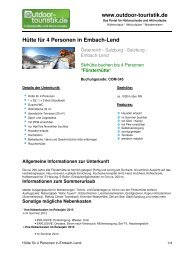Hütte für 4 Personen in Embach-Lend - Outdoor-Touristik