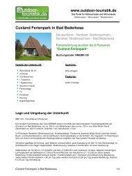 Ferienwohnung für 6 Personen in Bad Bederkesa - Outdoor-Touristik