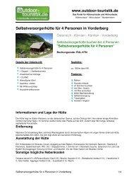 Selbstversorgerhütte für 4 Personen in Vorderberg - Outdoor-Touristik