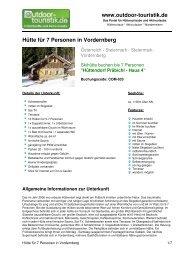 Hütte für 7 Personen in Vordernberg - Outdoor-Touristik
