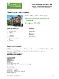 Ferienwohnung für 4 Personen in Lido di Jesolo - Outdoor-Touristik