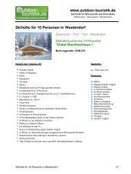 Skihütte für 10 Personen in Westendorf - Outdoor-Touristik