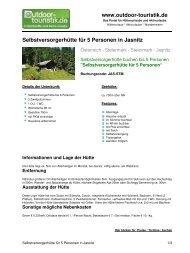 Selbstversorgerhütte für 5 Personen in Jasnitz - Outdoor-Touristik