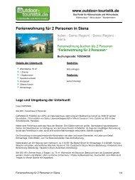 Ferienwohnung für 2 Personen in Siena - Outdoor-Touristik