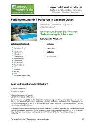 Ferienwohnung für 7 Personen in Lacanau-Ocean - Outdoor-Touristik