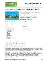 Ferienwohnung für 3 Personen in Colle di Val d ... - Outdoor-Touristik