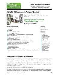 Hütte für 10 Personen in Arriach / Gerlitze - Outdoor-Touristik