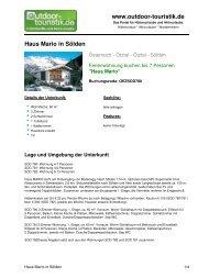 Ferienwohnung für 7 Personen in Sölden - Outdoor-Touristik