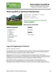 Ferienwohnung für 4 Personen in Garmisch ... - Outdoor-Touristik