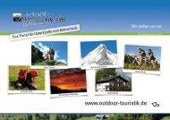 Zahlen und Fakten zum August 2008 von outdoor-touristik.de