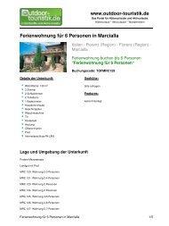 Ferienwohnung für 6 Personen in Marcialla - Outdoor-Touristik