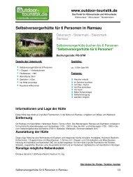 Selbstversorgerhütte für 6 Personen in Ramsau - Outdoor-Touristik