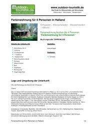 Ferienwohnung für 4 Personen in Halland - Outdoor-Touristik