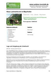 Ferienwohnung für 32 Personen in Mayrhofen - Outdoor-Touristik