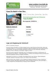 Ferienwohnung für 2 Personen in San Siro - Outdoor-Touristik