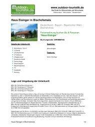 Ferienwohnung für 8 Personen in Bischofsmais - Outdoor-Touristik