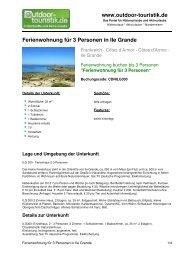 Ferienwohnung für 3 Personen in Ile Grande - Outdoor-Touristik