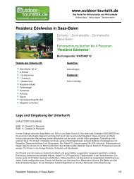 Ferienwohnung für 4 Personen in Saas-Balen - Outdoor-Touristik