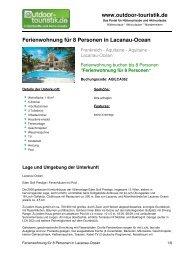 Ferienwohnung für 8 Personen in Lacanau-Ocean - Outdoor-Touristik