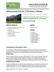 Selbstversorgerhütte für 12 Personen in Abtenau - Outdoor-Touristik
