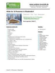 Hütte für 10 Personen in Westendorf - Outdoor-Touristik