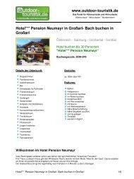 Hotel*** Pension Neumayr in Großarl- Bach ... - Outdoor-Touristik
