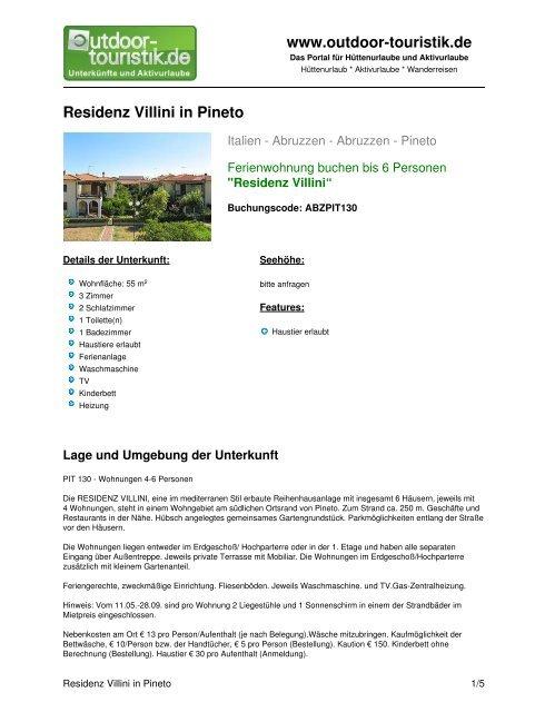 Ferienwohnung für 6 Personen in Pineto - Outdoor-Touristik
