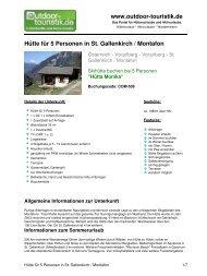 Hütte für 5 Personen in St. Gallenkirch / Montafon - Outdoor-Touristik