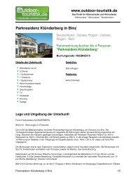 Ferienwohnung für 4 Personen in Binz - Outdoor-Touristik