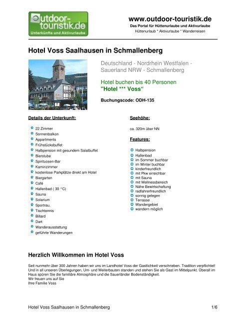 Hotel Voss Saalhausen in Schmallenberg - Outdoor-Touristik