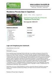 Ferienwohnung für 2 Personen in Capoliveri - Outdoor-Touristik