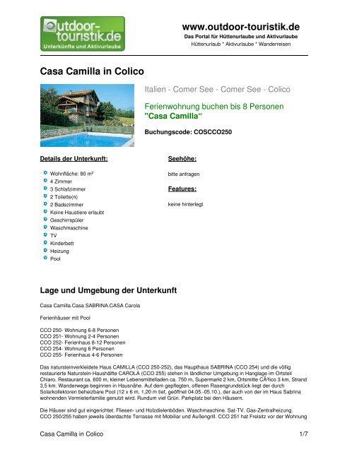 Ferienwohnung für 8 Personen in Colico - Outdoor-Touristik