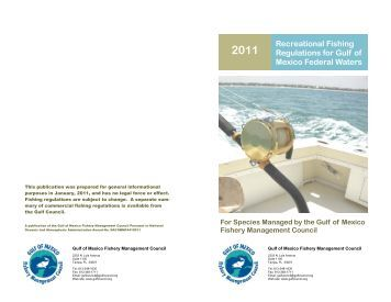 Commercial fishing regulations for gulf of mexico federal for Federal fishing regulations