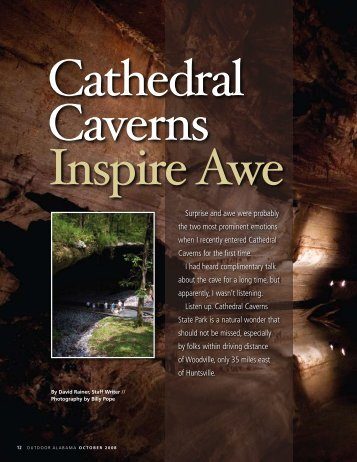 Cathedral Caverns Inspire Awe - Alabama Department of ...