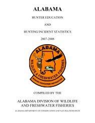 alabama hunter education and hunting incident statistics