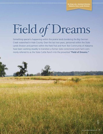 Field of Dreams - Alabama Department of Conservation and Natural ...
