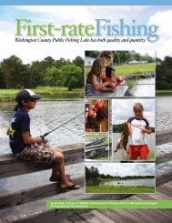 Washington County Public Fishing Lake has both quality and quantity