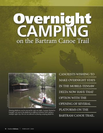 Overnight Camping on the Bartram Canoe Trail - Alabama ...
