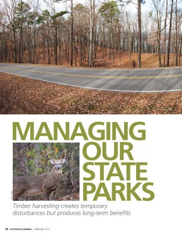 Managing Our State Parks - Alabama Department of Conservation ...