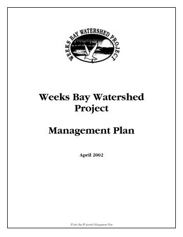 Weeks Bay Watershed Project Management Plan - Mobile Bay ...