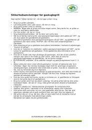 Sikkerhedshenvisninger ved gaskuglegrillen - Outdoorchef.com