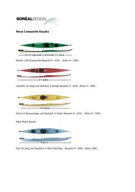 klicken für die Bootsliste im PDF Format. - Outdoorfeeling.com