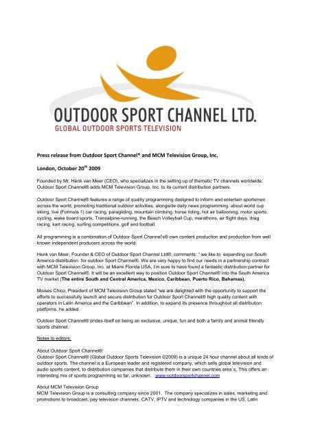 Pdf Download Outdoor Sport Channel
