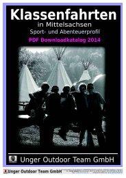 Download Klassenfahrt-Katalog (PDF) - Unger Outdoor Team GmbH