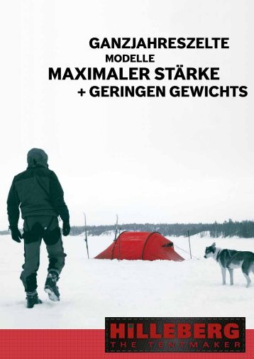 HILLEBERG All Season Tents with Greatest Strength - outkomm